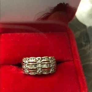 Jewelry - Diamond and Baguette 14 karat gold ring